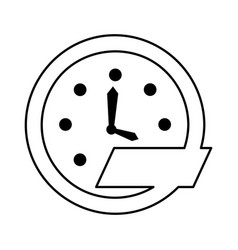 Time clock wall icon vector