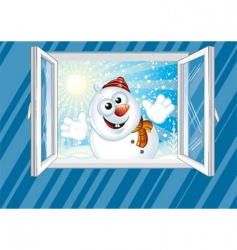 welcome winter vector image vector image