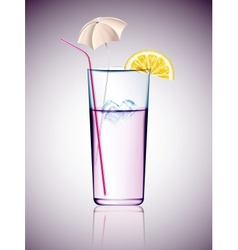 Cocktail with umbrella vector