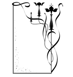 frame with flowers of fuchsia vector image