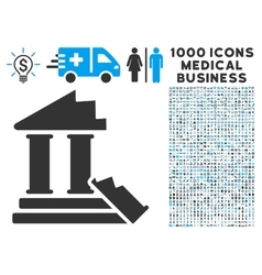 Historic ruins icon with 1000 medical business vector