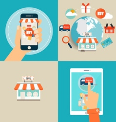 Online shopping business concept with business vector