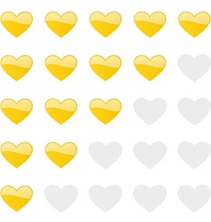 Rating hearts panel customer review vote vector