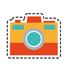 Colorful photographic camera icon image vector