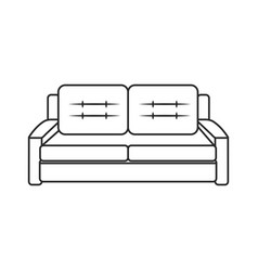 Sofa furniture modern style outline vector