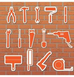 icon tools vector image