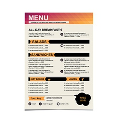 Cafe menu restaurant template design vector