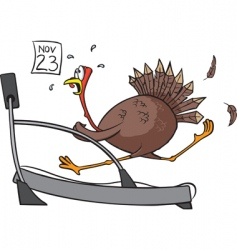 Treadmill turkey vector