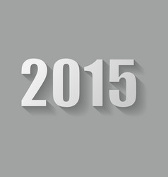 Grey 2015 new year card design vector image