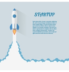 Start up concept space roket modern flat design vector