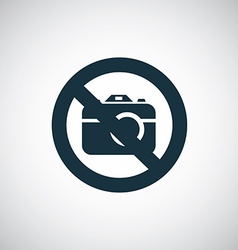Photo forbidden vector
