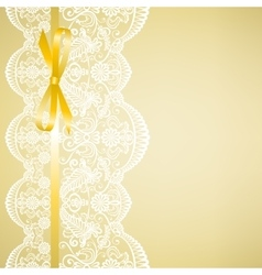 lace on yellow background vector image