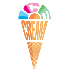 Element emblem in form of ice cream vector