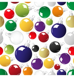 Shiny color christmas decoration seamless pattern vector