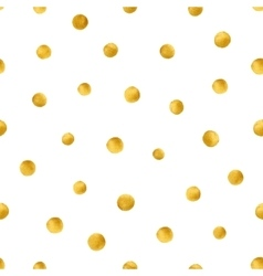 Seamless pattern with hand painted gold circles vector image