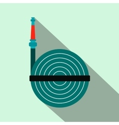 Fire hose winder roll reels flat icon vector