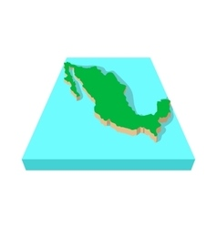 Mexico map icon cartoon style vector