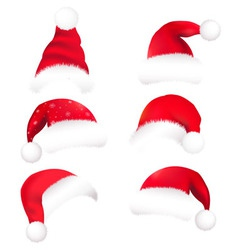 Christmas hats vector