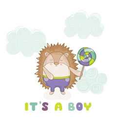 Baby Hedgehog - for Baby Shower vector image vector image