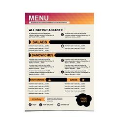 Cafe menu restaurant template design vector