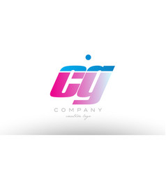 Cg c g alphabet letter combination pink blue bold vector