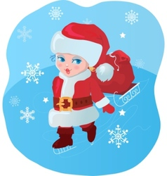 child santa vector image vector image