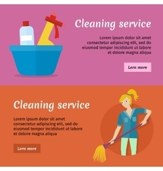 Cleaning service advertisement cards set poster vector