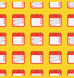Colorful geometric seamless pattern - calendar vector