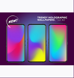 colorful holographic background vibrant neon vector image