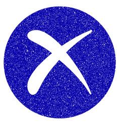 Delete icon grunge watermark vector
