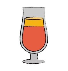 Drawing cocktail popular alcohol drink straw vector