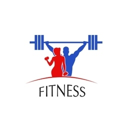 Fitness Center logo vector image vector image