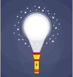 Flashlight or pocket torch vector image