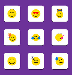 Flat icon expression set of have an good opinion vector