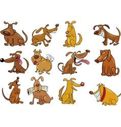 funny dogs set vector image vector image