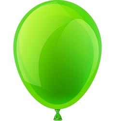 Green celebration balloon vector image