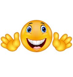 Happy emoticon smiley vector image vector image