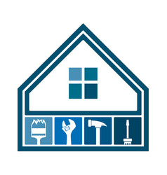 house repair and maintenance symbol vector image
