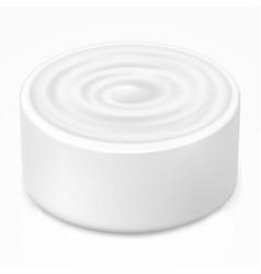Hygienic cream gel in white jar vector