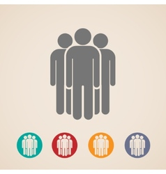 Icons of people group vector