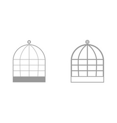 iron cage it is black icon vector image