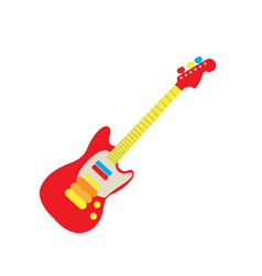 Isolated guitar toy vector
