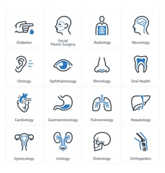 Medical and health care icons set 1 - specialties vector