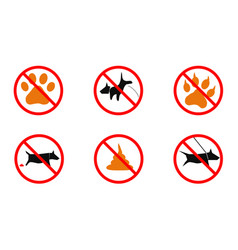 No dogs no dogs sign vector