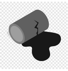 Oil is spilling from the barrel isometric icon vector