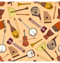 Pattern with musical instruments vector