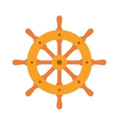 Ship steering wheel sign icon vector image vector image