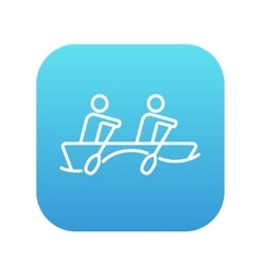 Tourists sitting in boat line icon vector image vector image