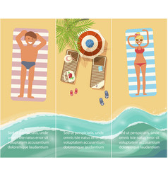 vacation in tropical countries banner vector image