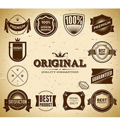 Vintage labels Collection 2 vector image vector image